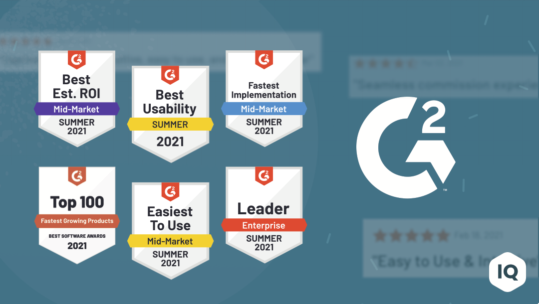CaptivateIQ Ranked #1 Sales Compensation Software by G2