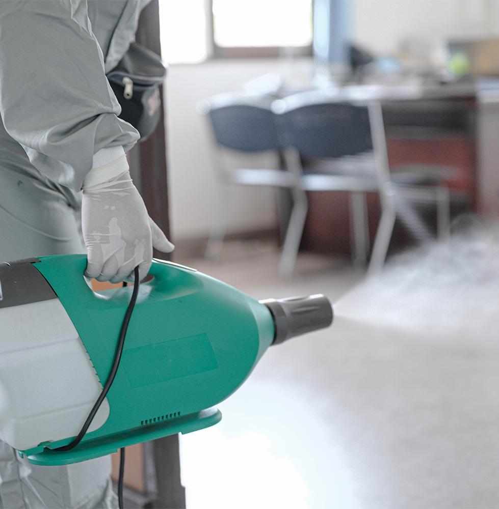 Electrostatic sanitization in Broward County, FL