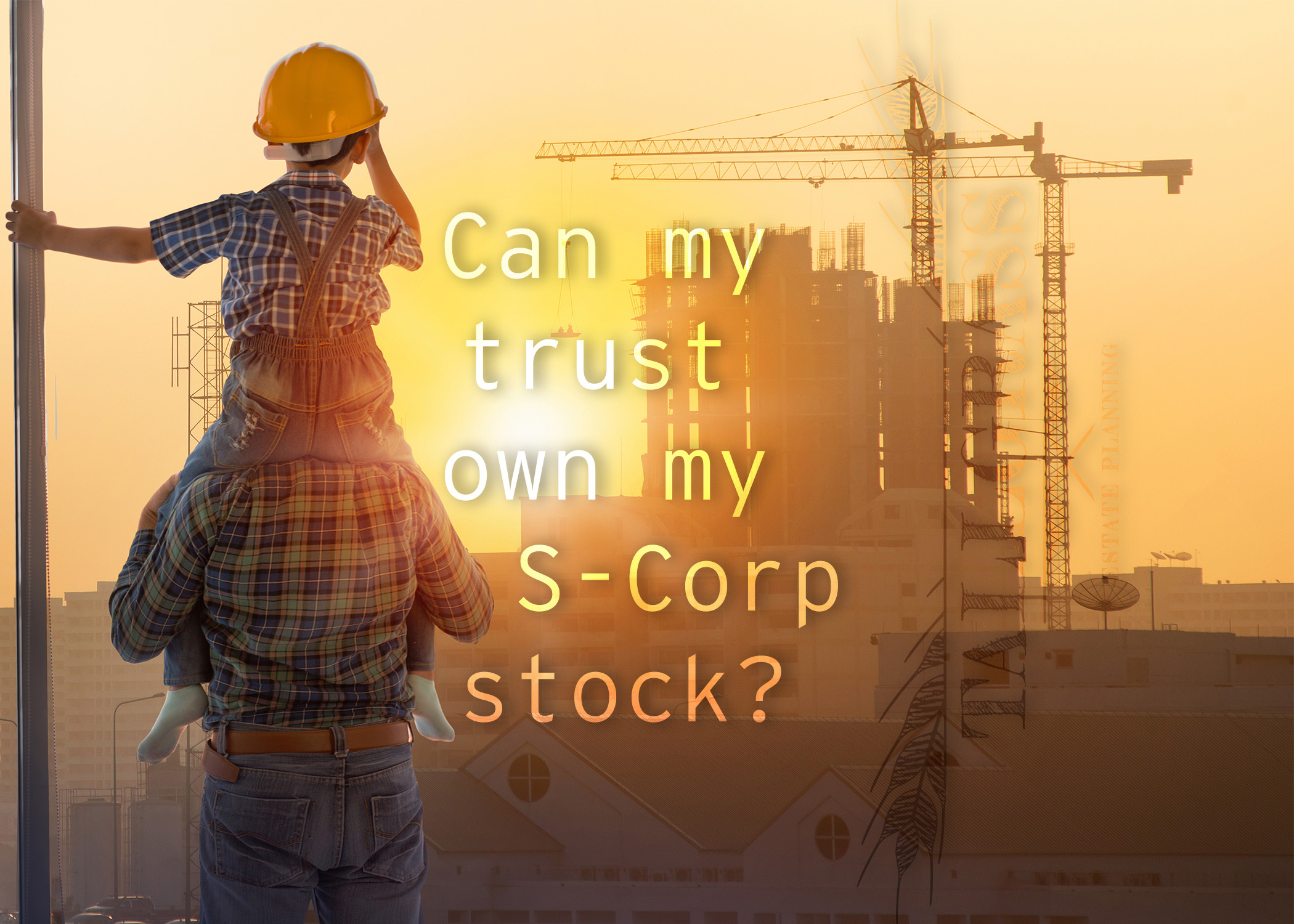 Estate Planning for Business Owners: Can Your Trust Own Your S Corporation?