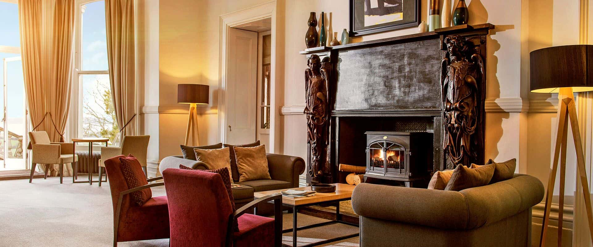 Trenython Manor fireplace