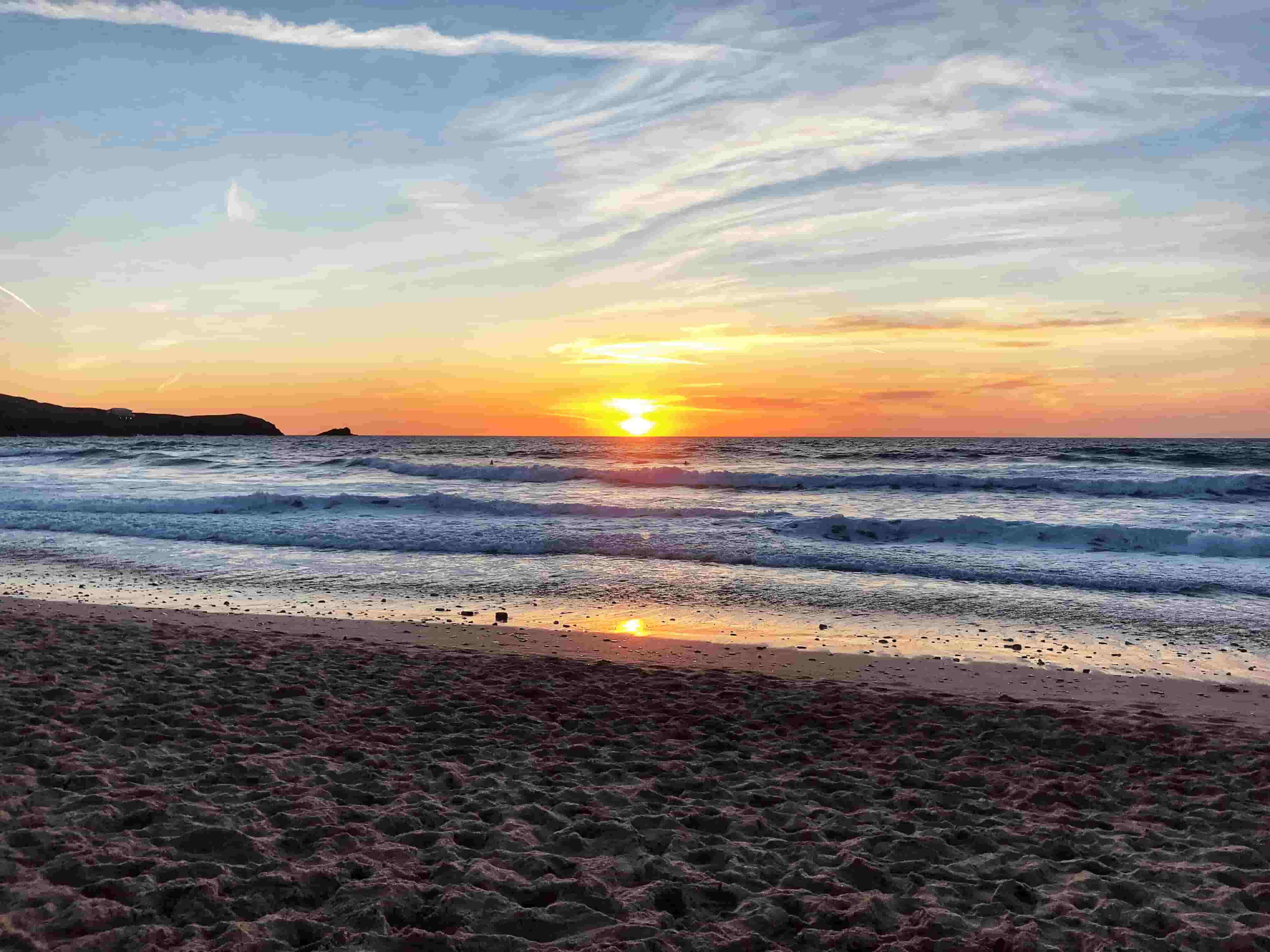 Sunset at Fistral