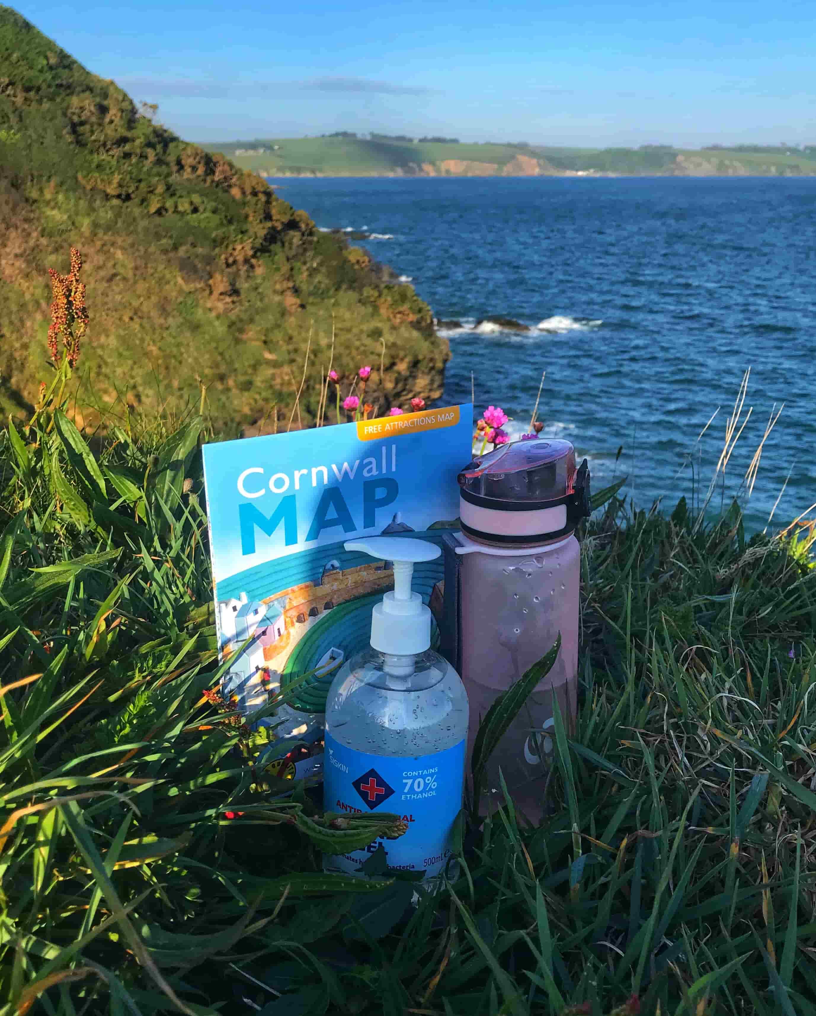 EssentialTravel Pack. Water bottle, Map and hand sanitiser