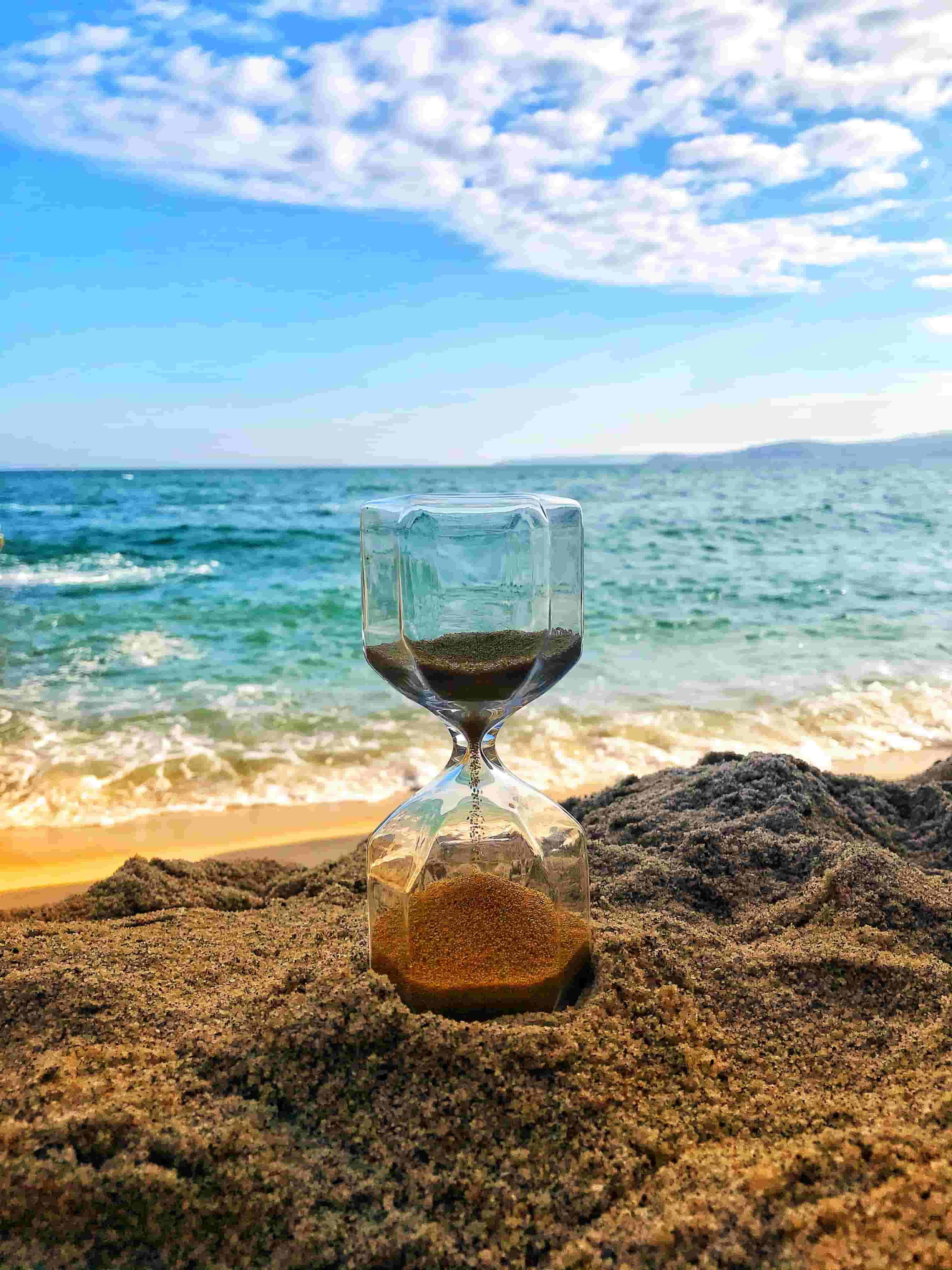 Sand Timer on the beach