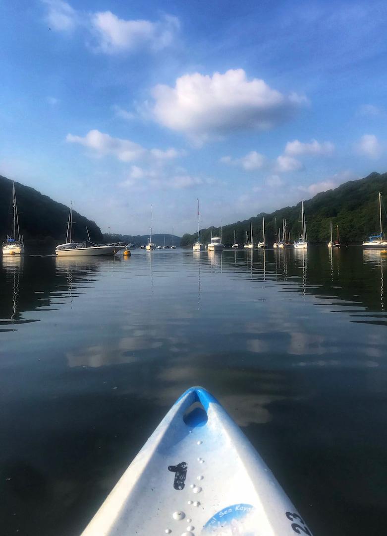 Kayaking on River Fowey