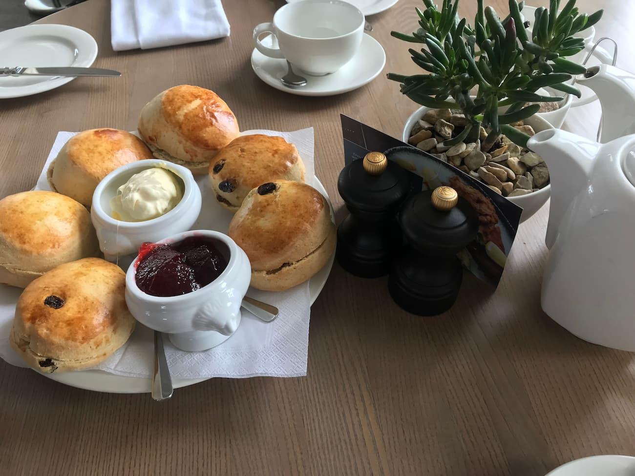 Cream Tea at Fowey Harbour Hotel