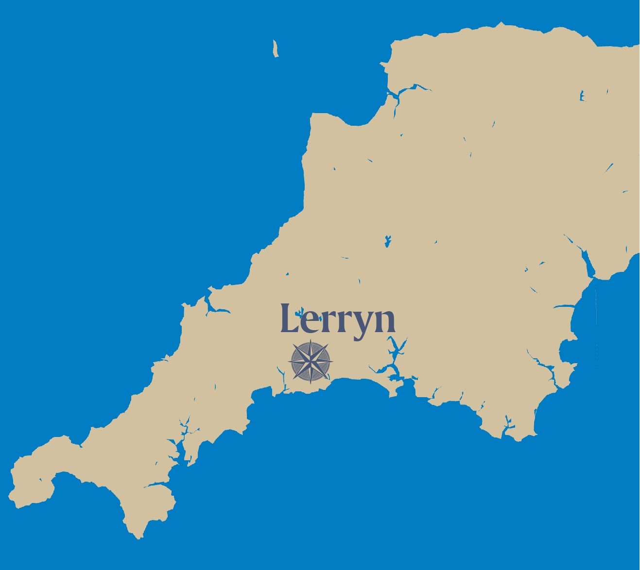 Lerryn-map
