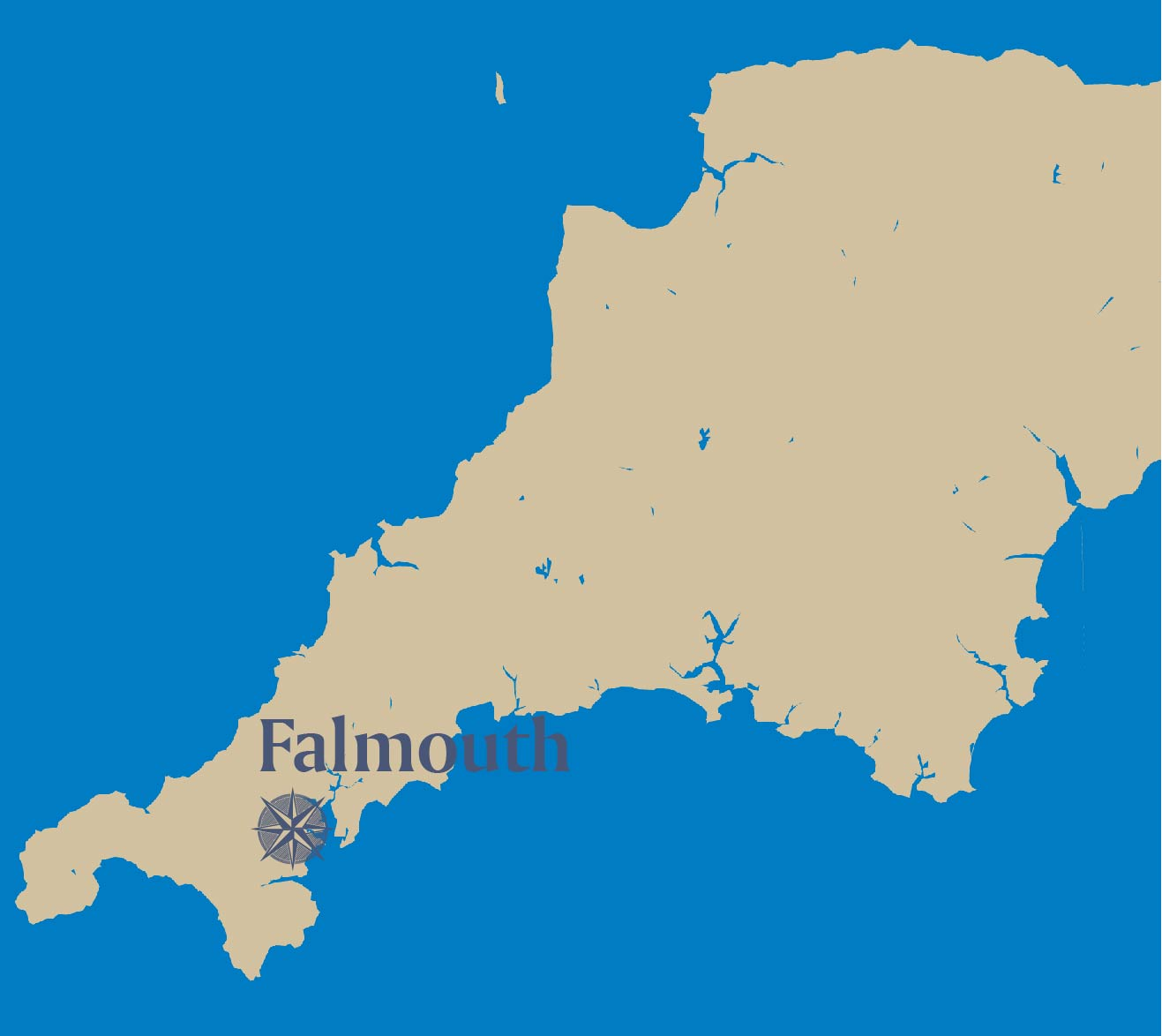 Falmouth-map