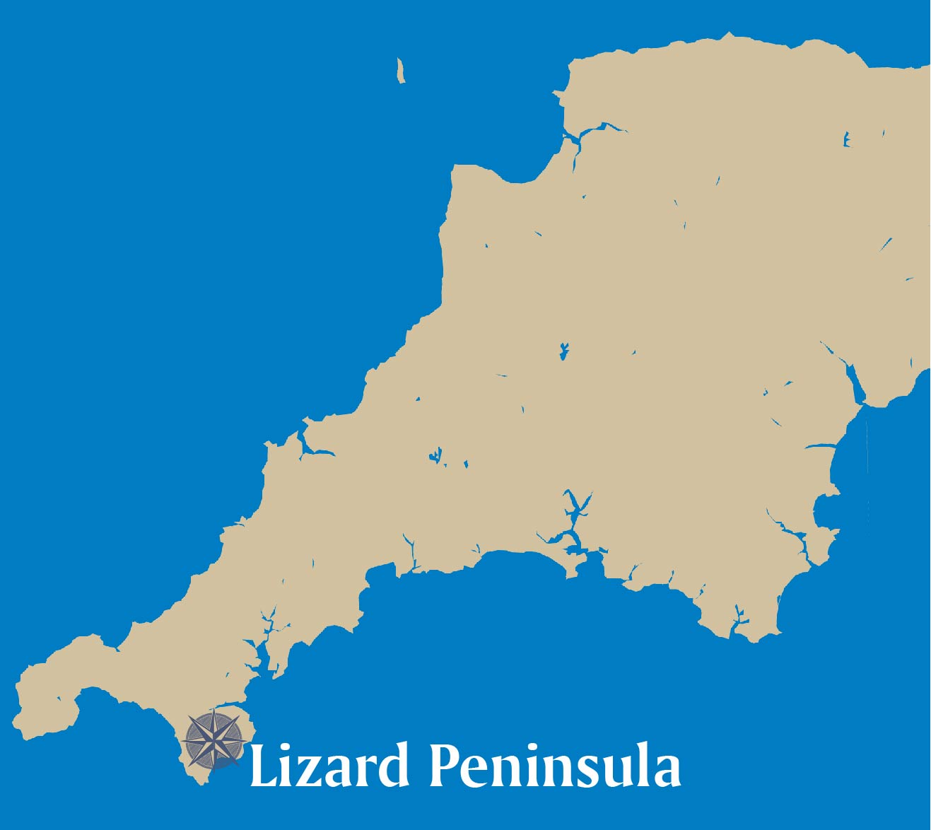 Lizard Peninsula-map