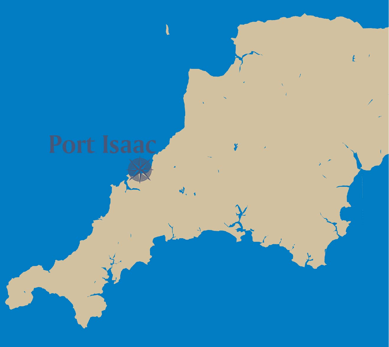 Port Isaac-map