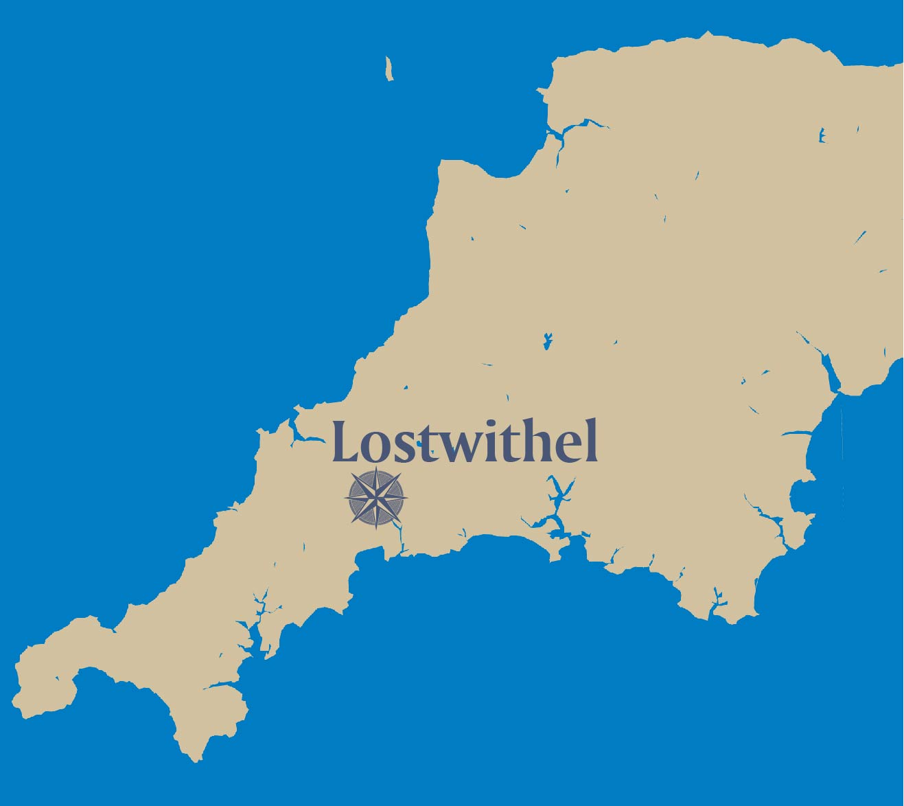 Lostwithel-map