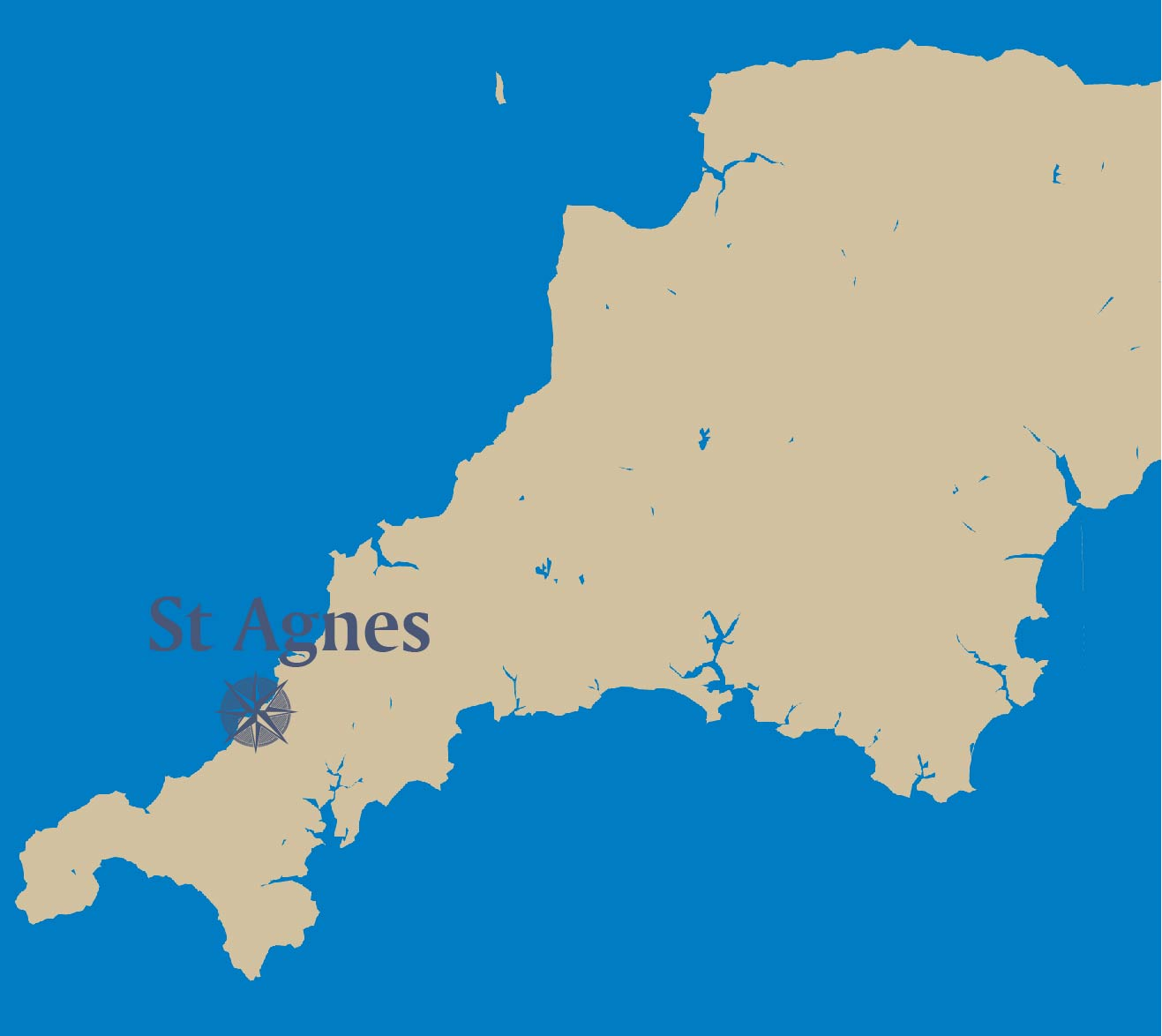 St Agnes-map