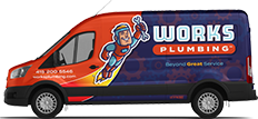 Works Plumbing Local Plumber Service Van