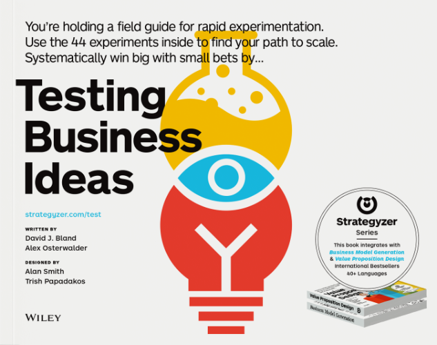 image of book testing business ideas by alex osterwalder