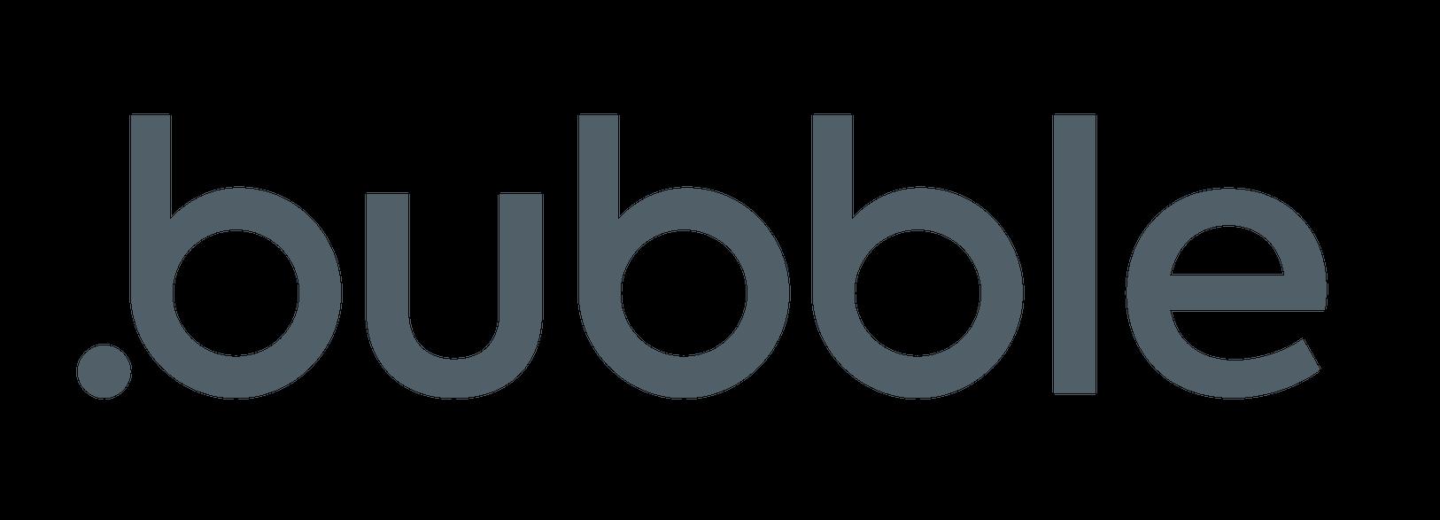 logo of no-code provider bubble