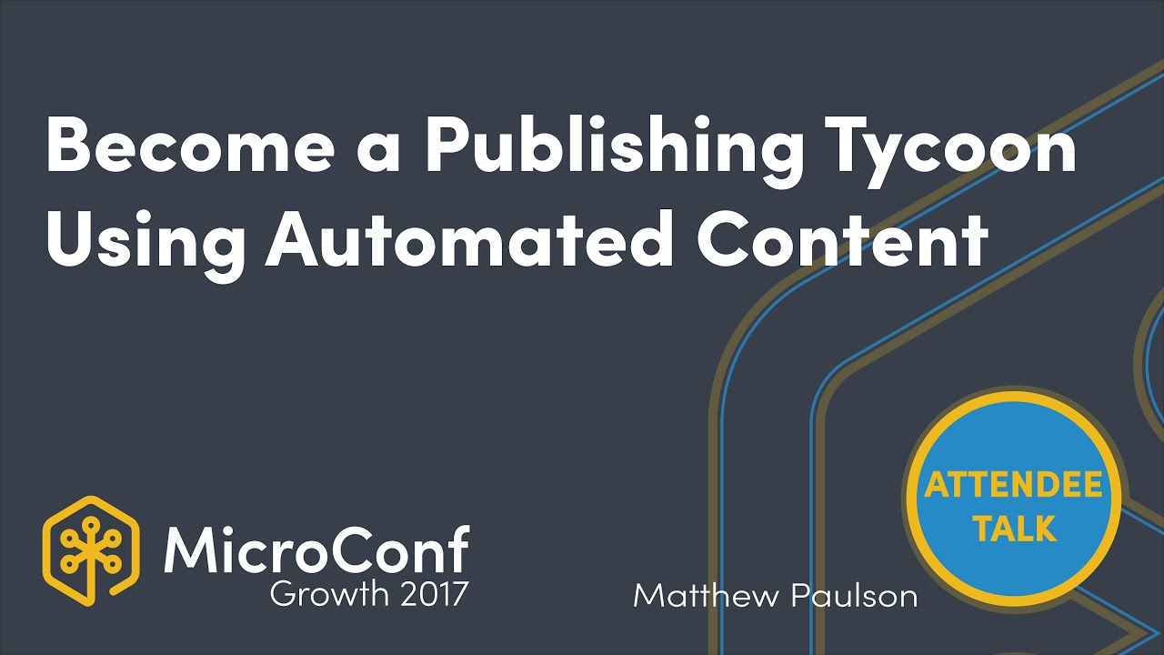 How a Personal Finance Blogger Became a Publishing Tycoon using Automated Content