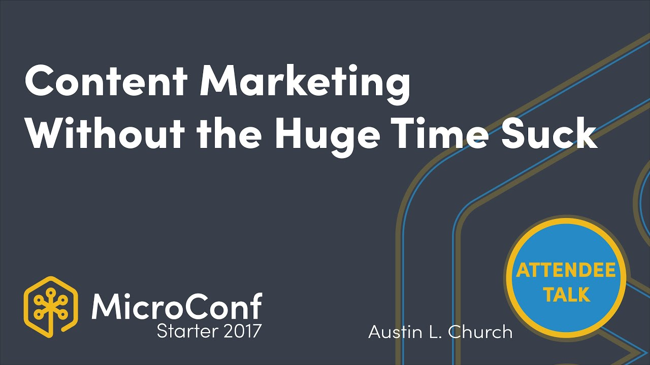 Content Marketing Without the Huge Time Suck