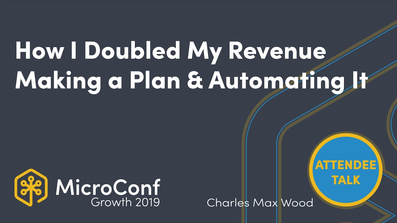 How I Doubled my Revenue Making a Plan and Automating It