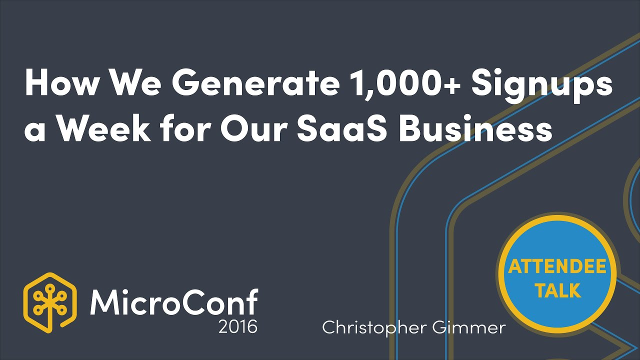 How We Generate 1,000+ Signups a Week for Our SaaS Business