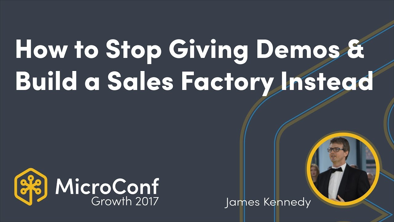 How to Stop Giving Demos & Build a Sales Factory Instead
