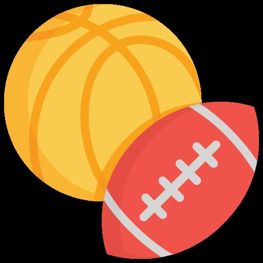 Football and basketball flat icon