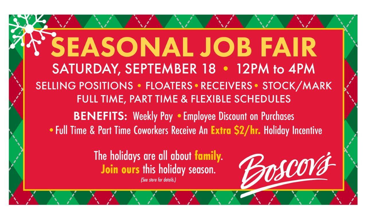 Seasonal Job Fair poster