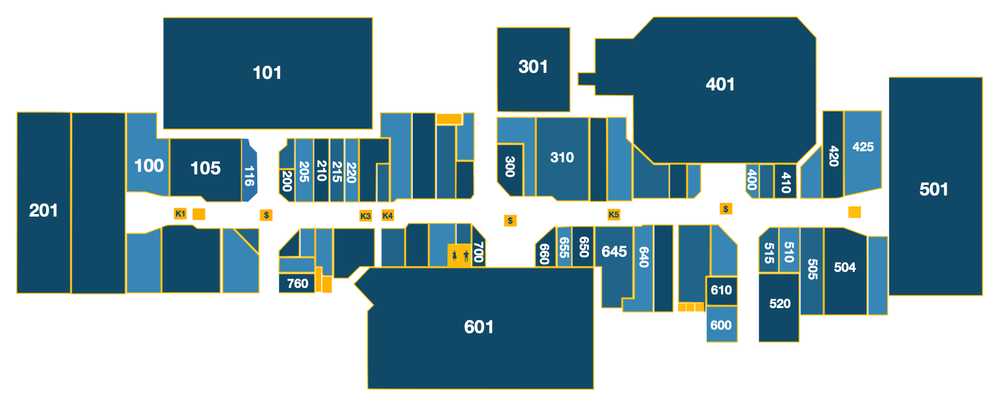 Map of the stores in Clearview Mall