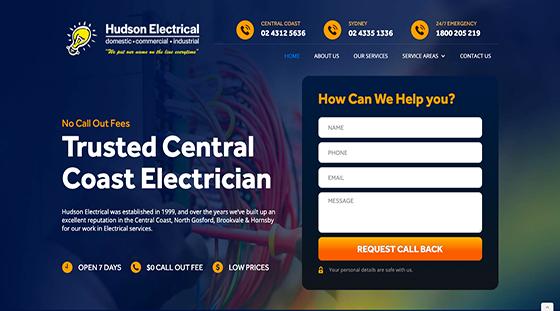 Hudson Electrical Website