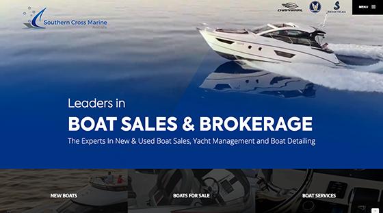 Client Superior Marine website homepage