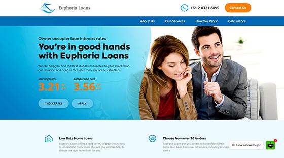 Euphoria Loans Website