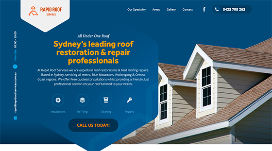 Rapid Roof Services Website