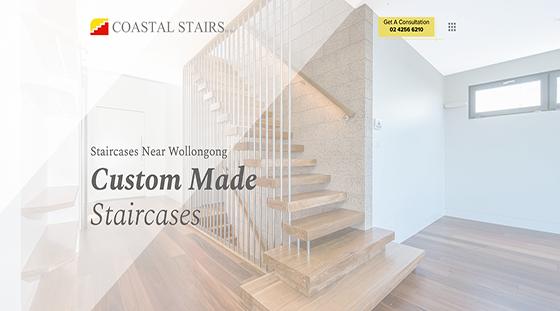 Client Coastal Stairs website homepage