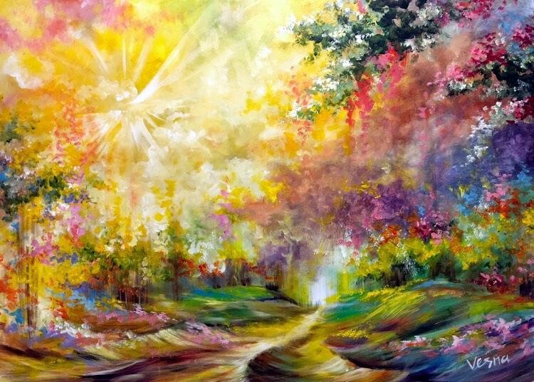 Painting by Vesna Delevska