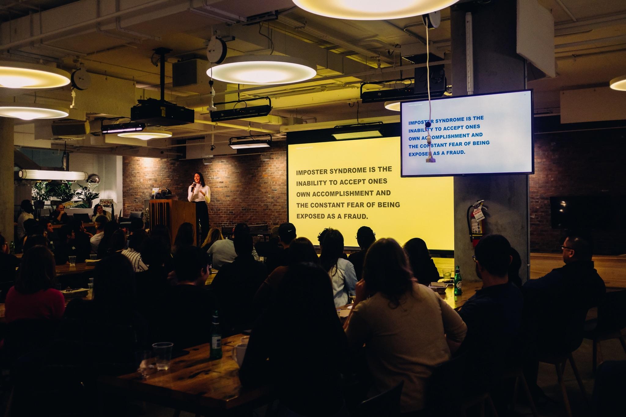 Ein Foto von einem Vortrag