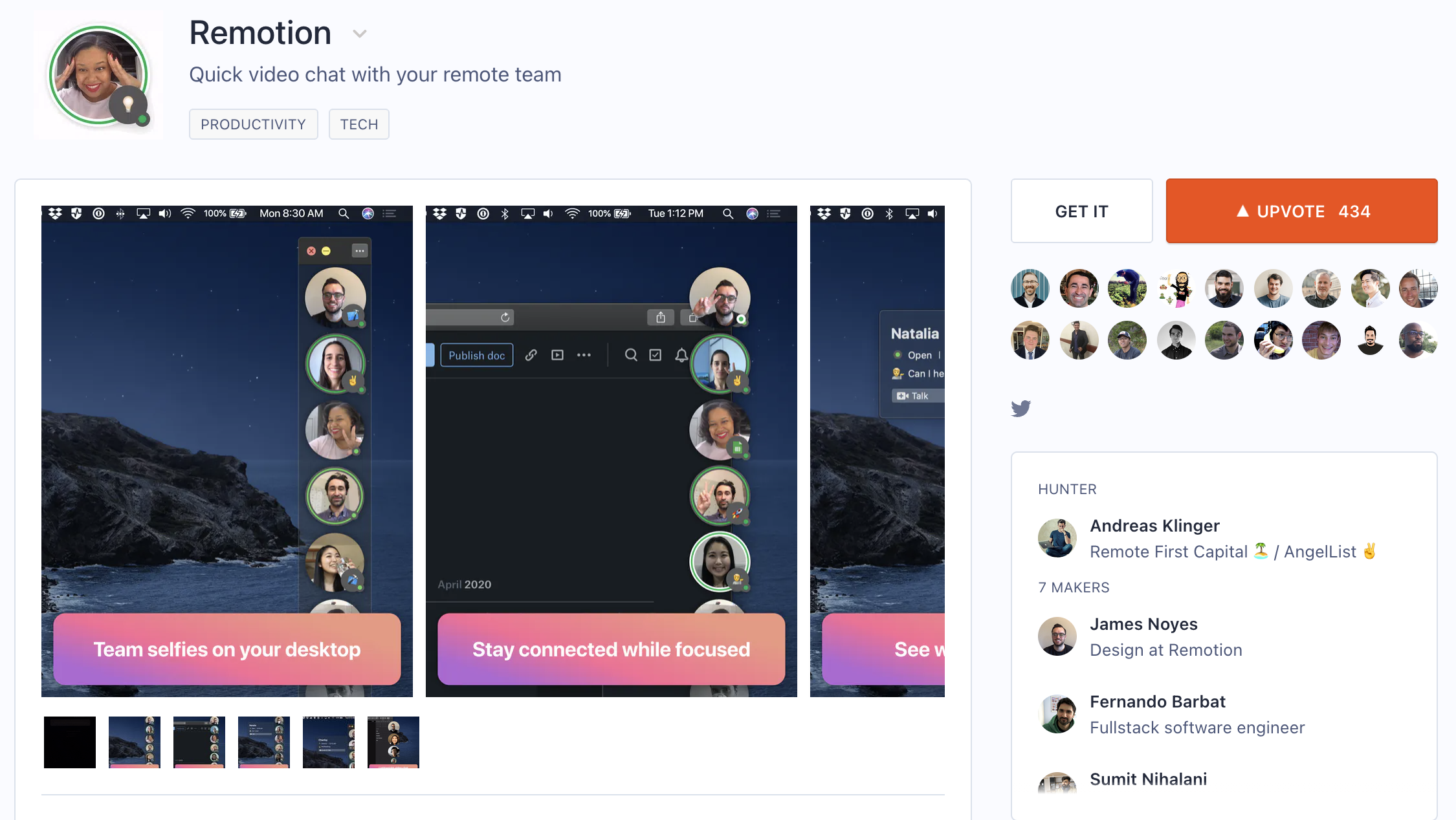 Remotion on Product Hunt