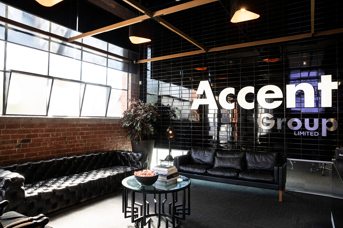 Accent Group Cremorne support office interior