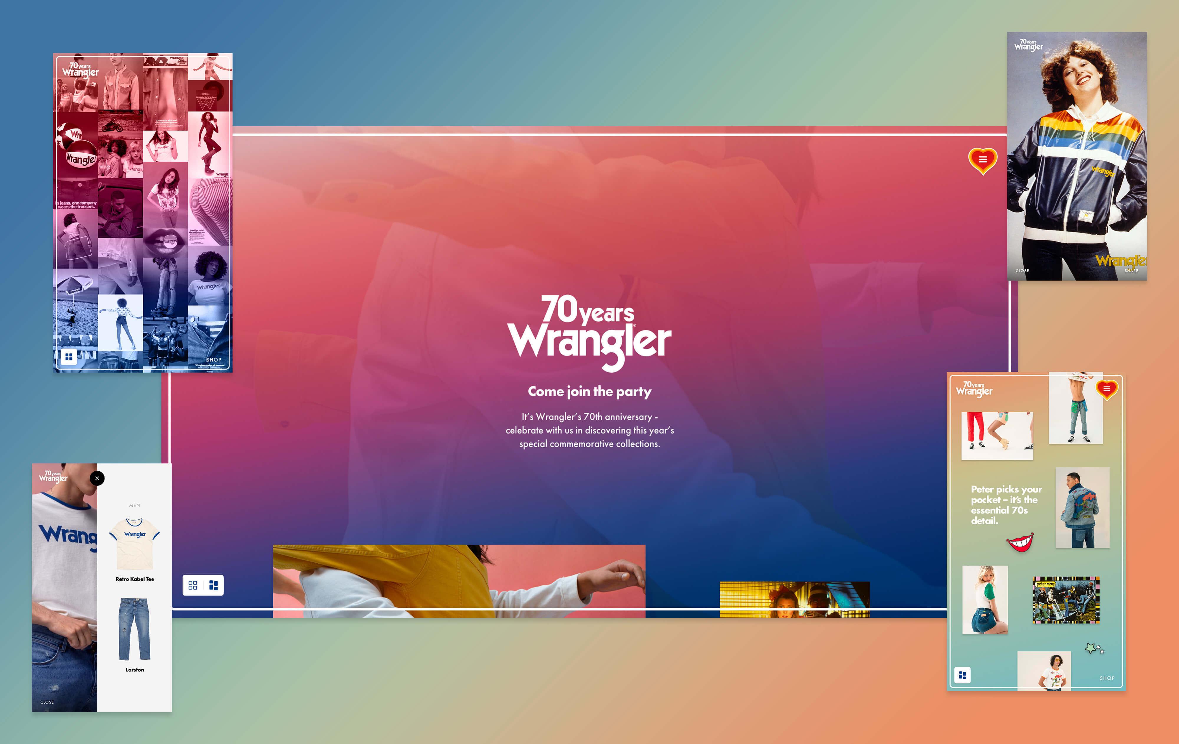 Wrangler Anniversary Website