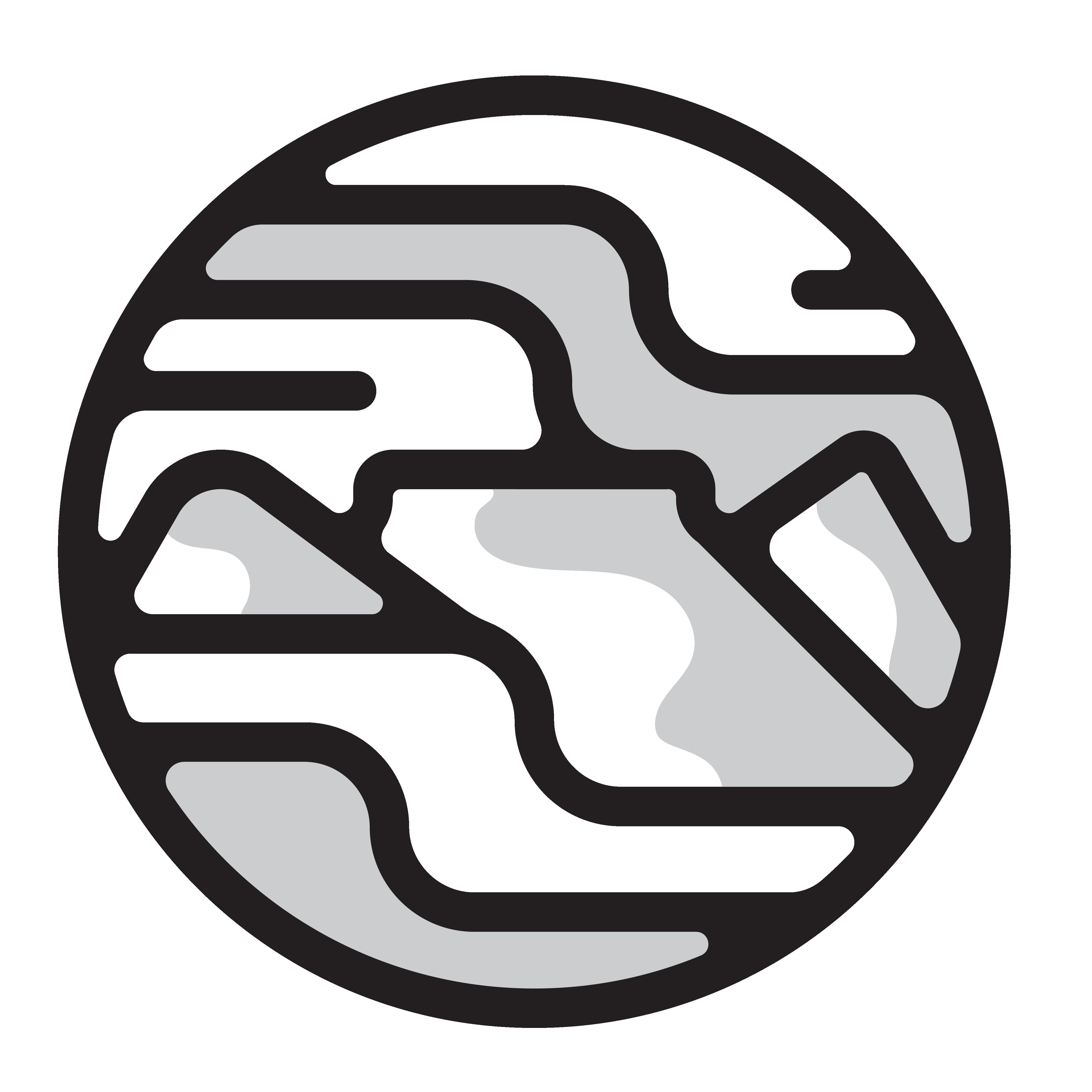 grey scale La Montagna icon for watermark