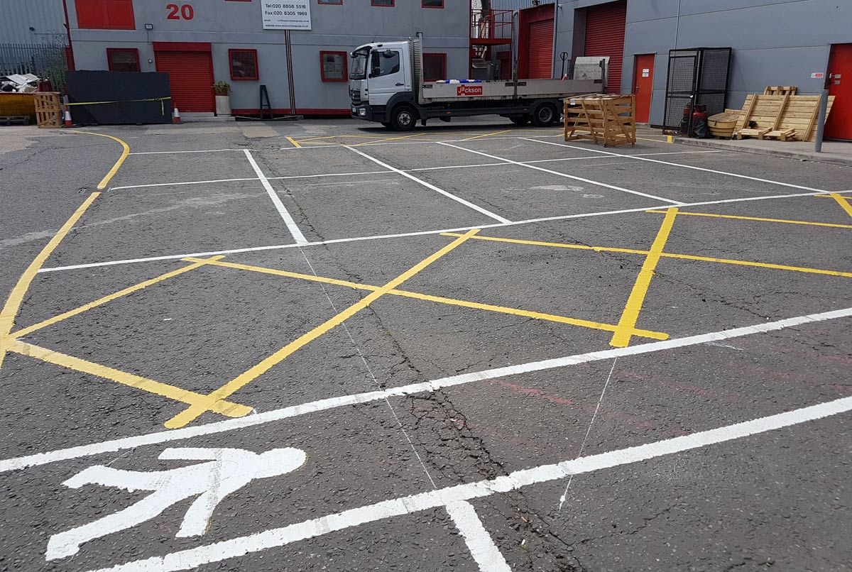 Warehouse Floor Line and Sign Painting | Total Line Marking
