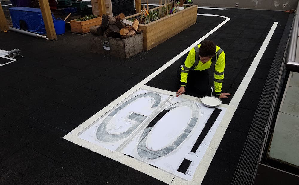 Line Marking - Hand Painted