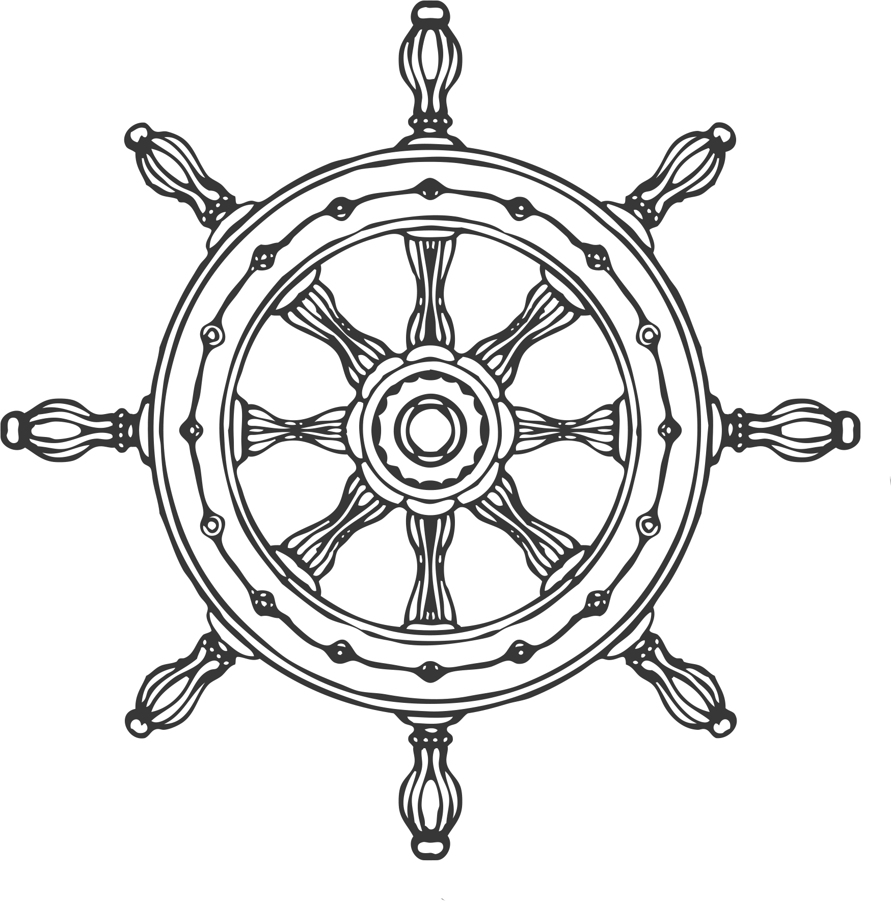 ship wheel illustration