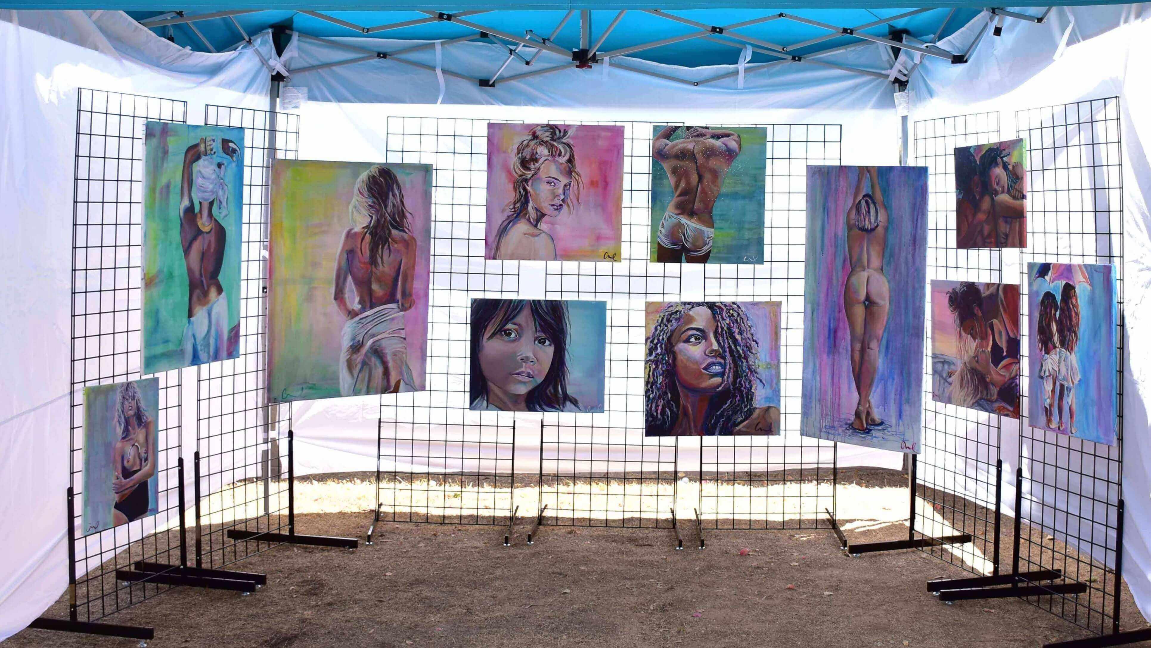 artist christina carmel artist booth shot