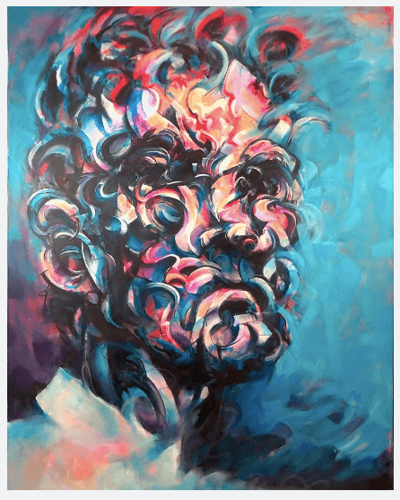 Mathijs Vissers - abstract portrait artist