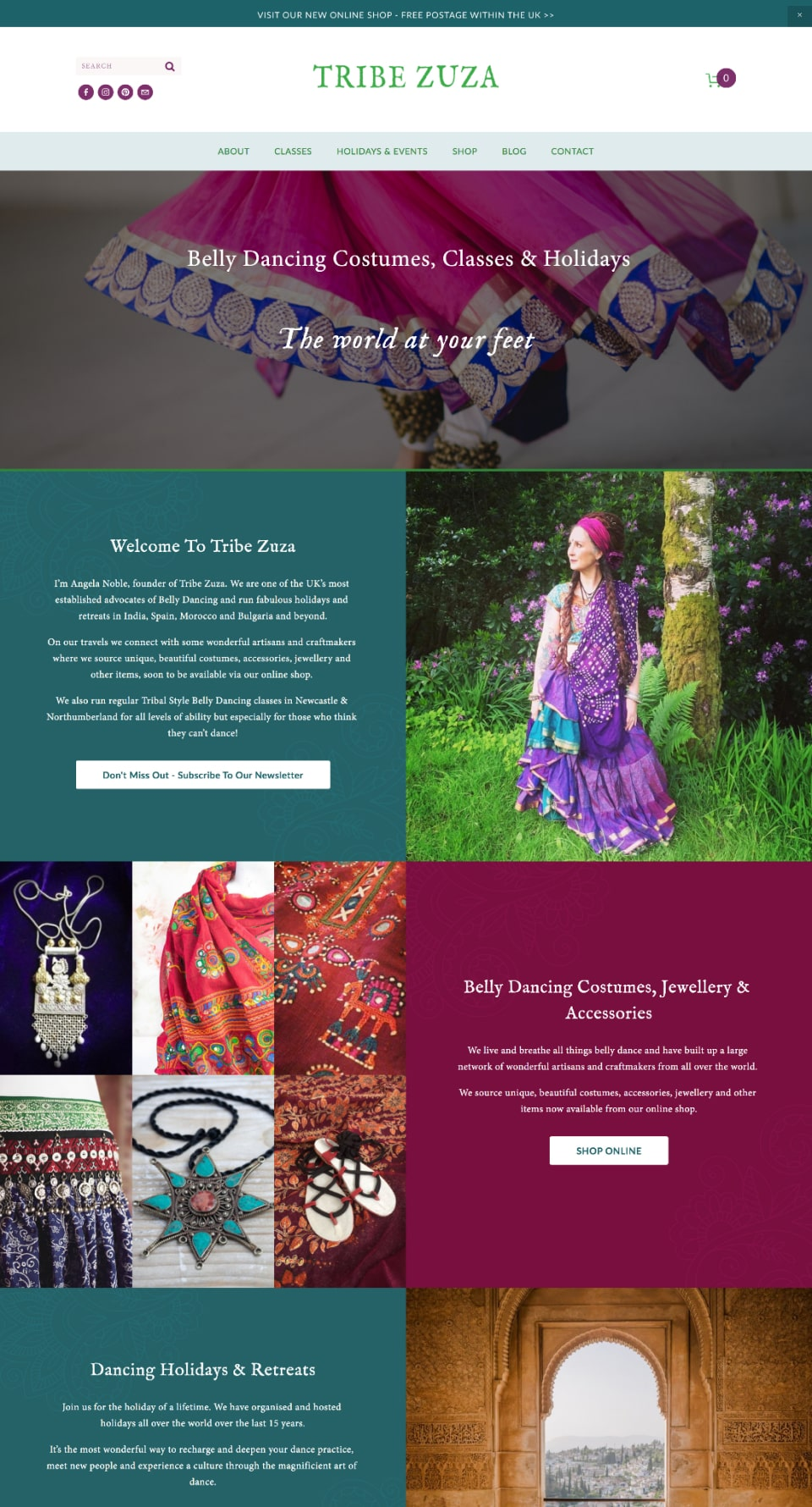 Tribe Zuza Website  Home Page