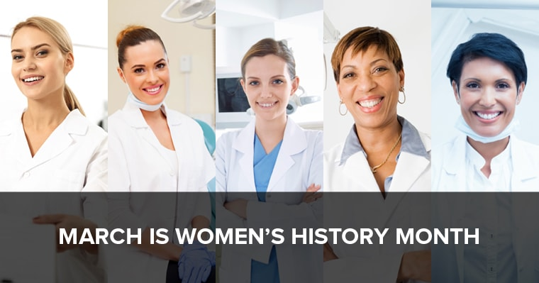 a bunch of women dentist standing together smiling