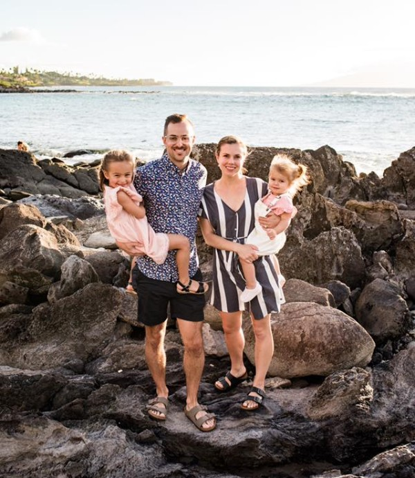 Dr. Nick and family at the beach
