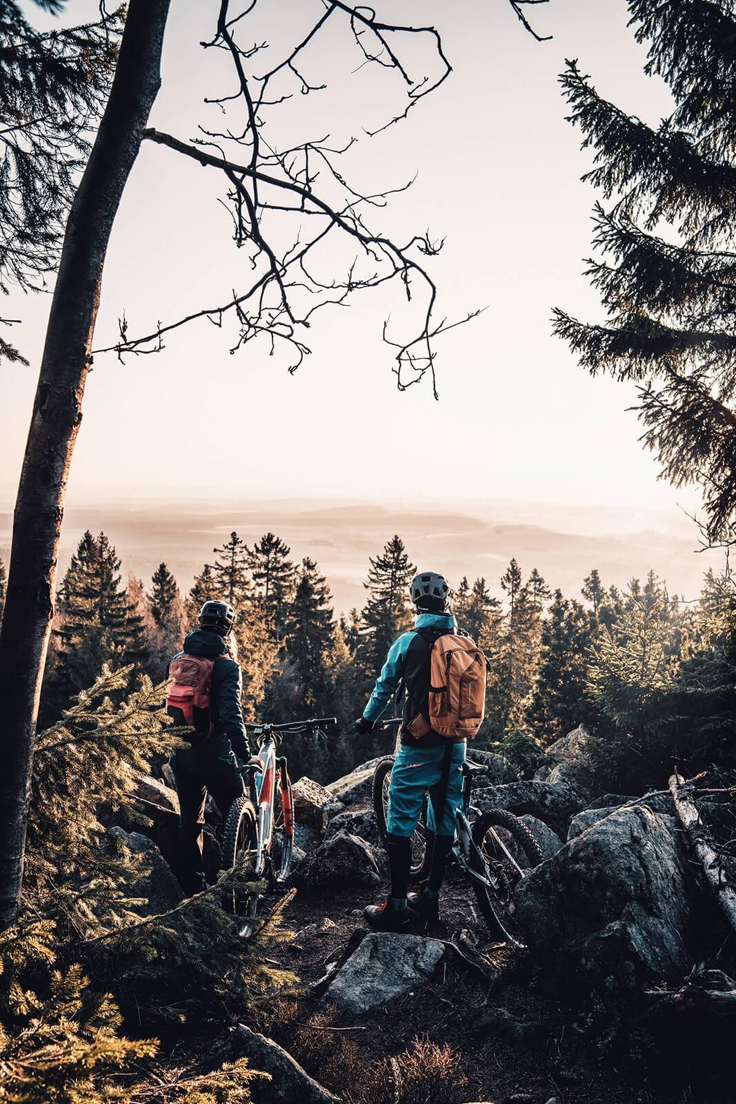 Fichtelrad Fichtelgebirge Aussicht Wald eBike Tour