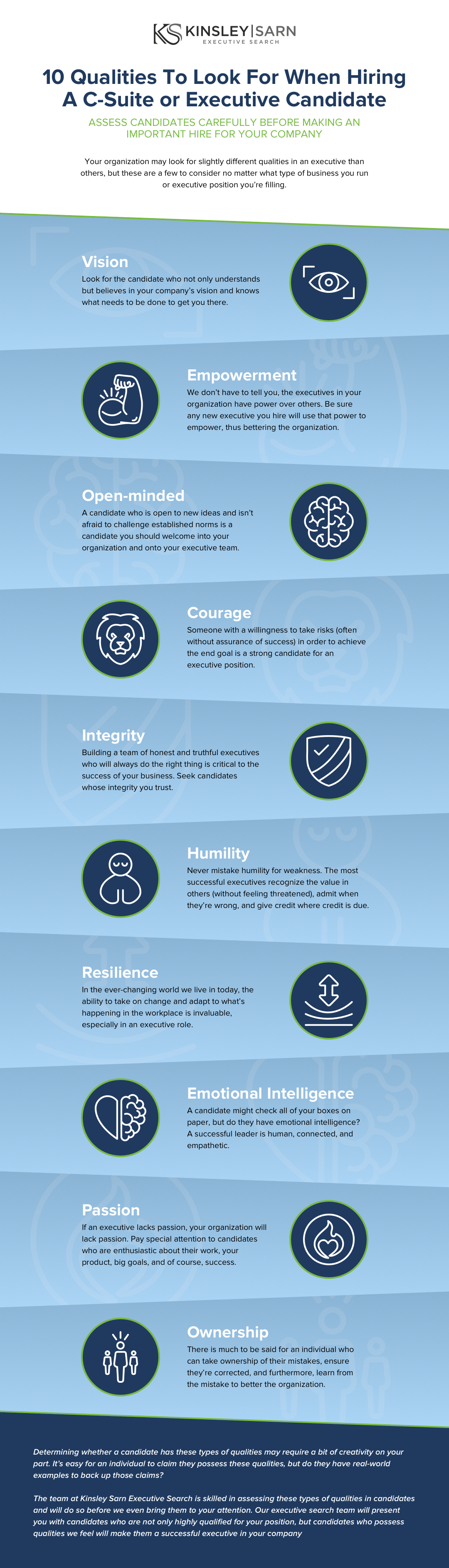 qualities to look for in candidate infographic