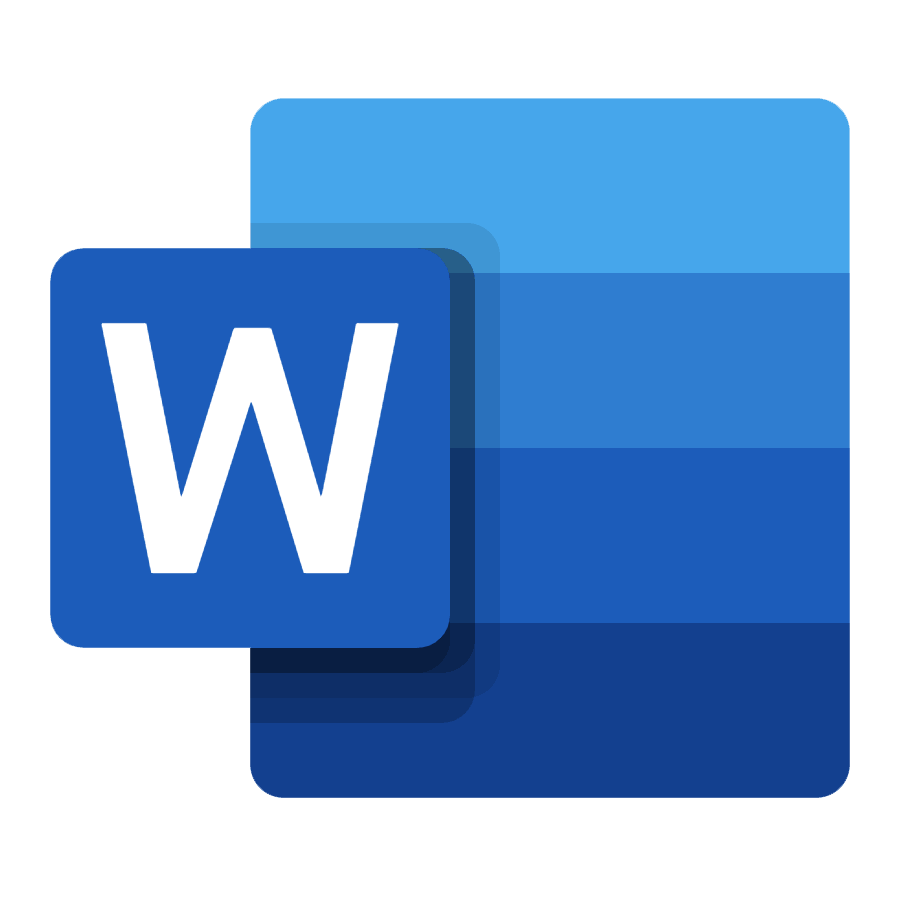logo of microsoft word, a simon says integration
