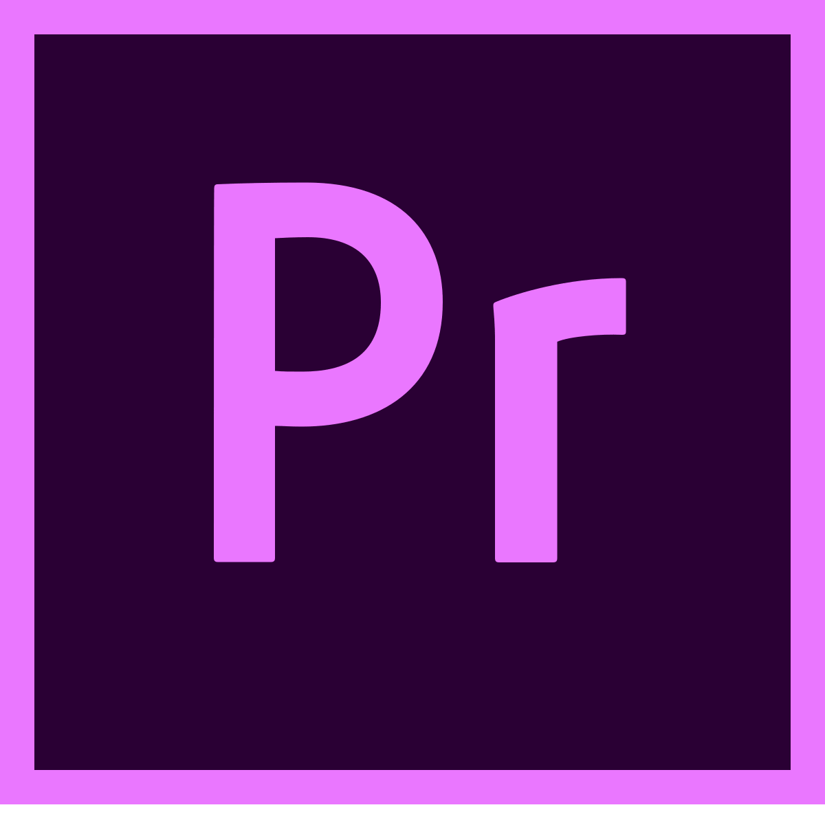 logo of adobe premiere pro, a simon says integration