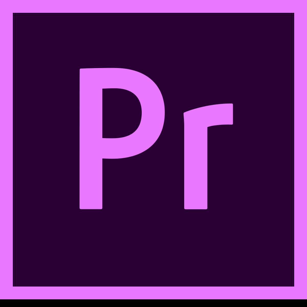 logo of adobe premiere pro, a simon says integration